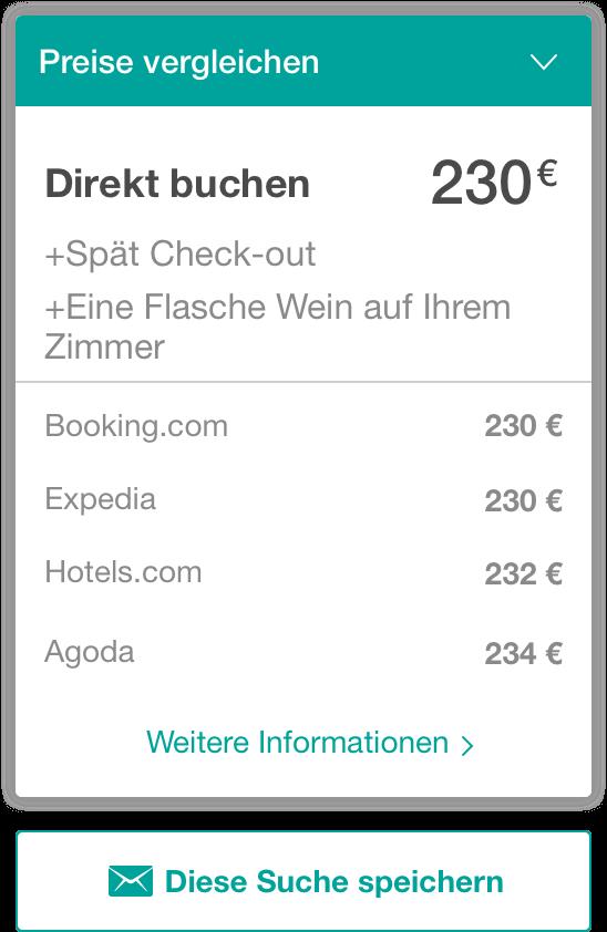 preisvergleich widget - The Hotels Network