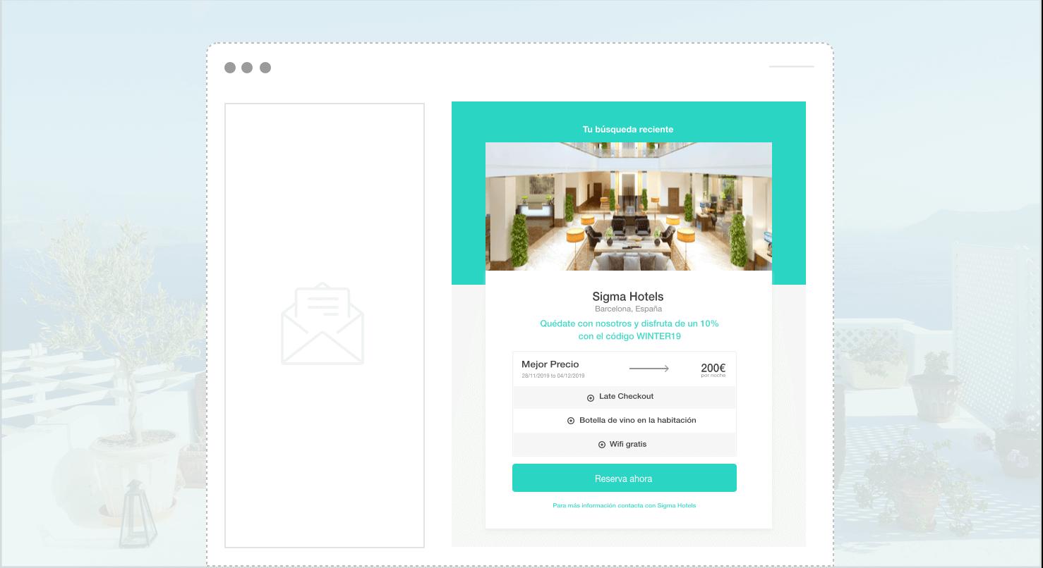 búsqueda guardada widget - The Hotels Network