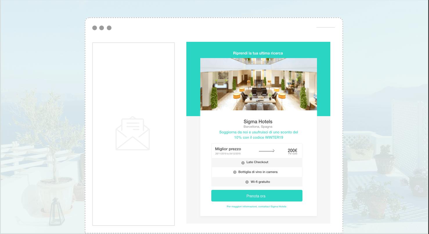 ricerca salvata widget - The Hotels Network