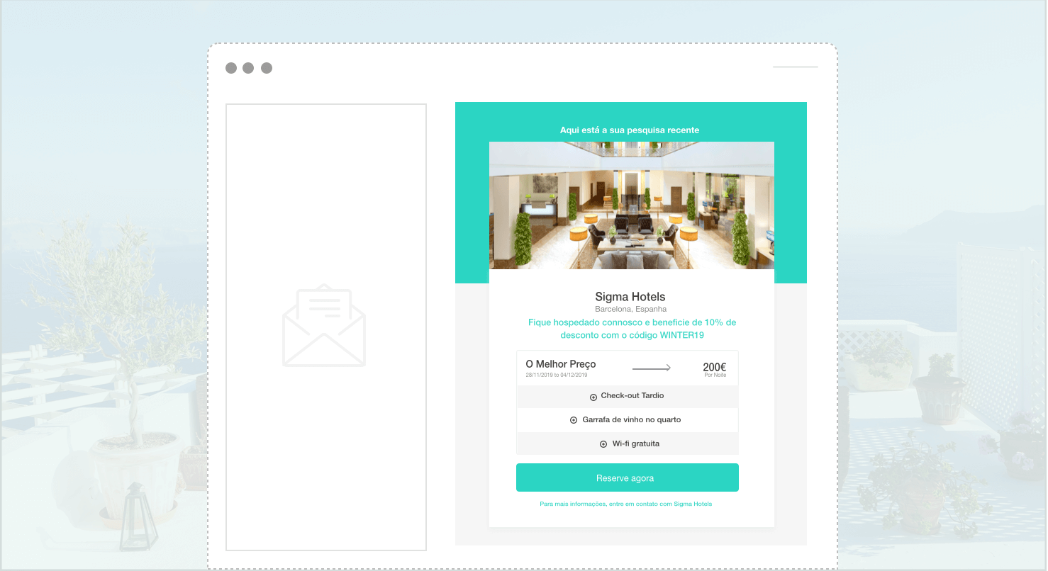 pequisa guardada widget - The Hotels Network
