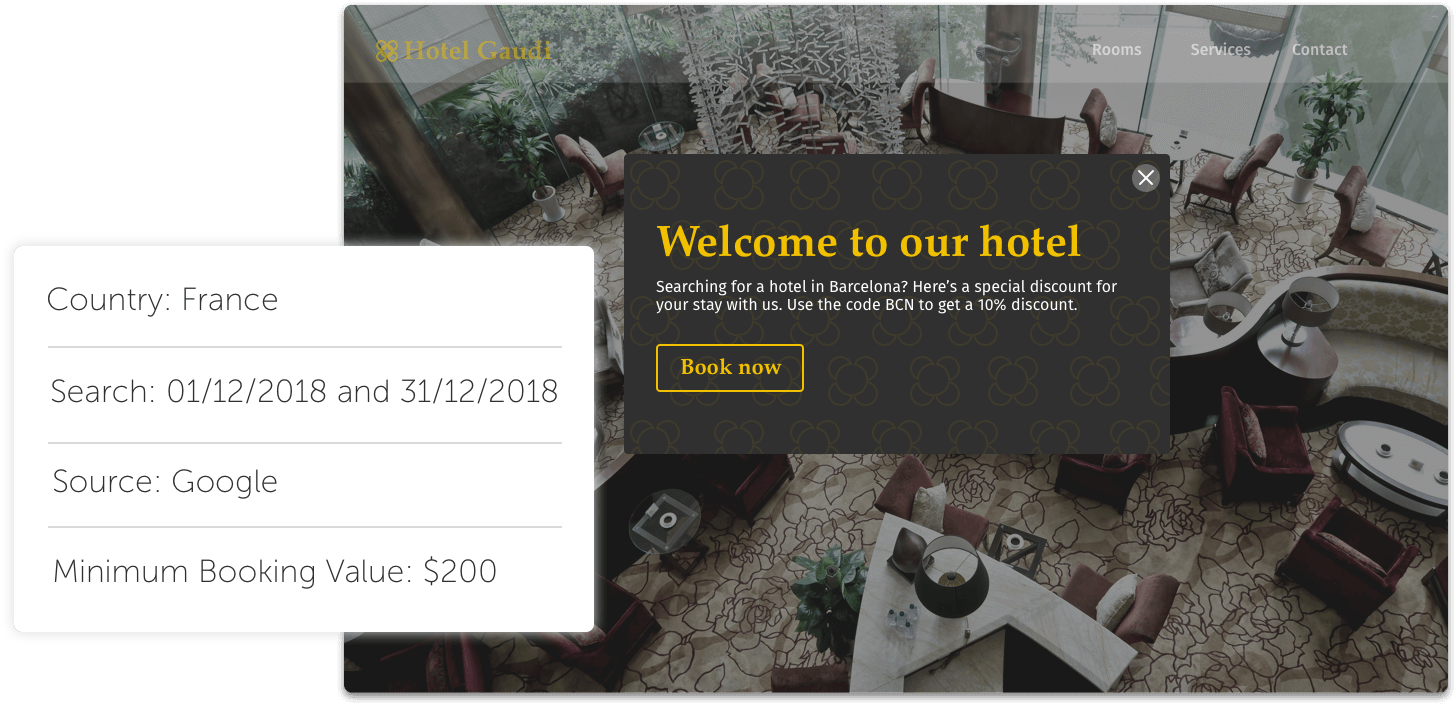Welcome banner - The Hotels Network