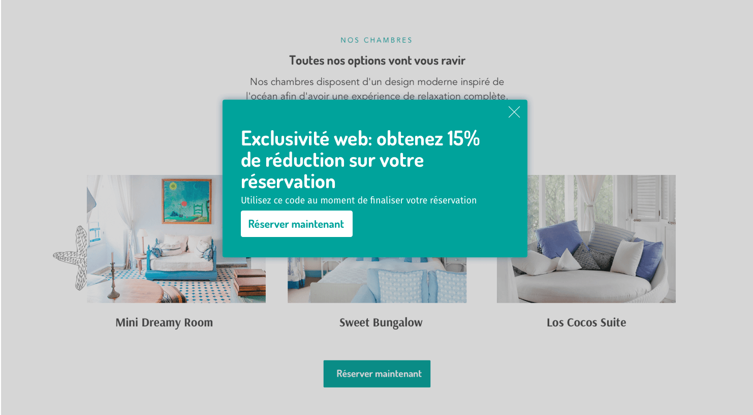 Message de rétention - The Hotels Network